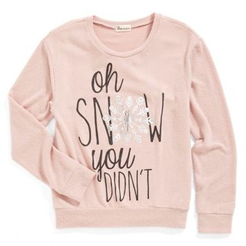 Girl's Ten Sixty Sherman 'Oh Snow You Didn't' Sweatshirt