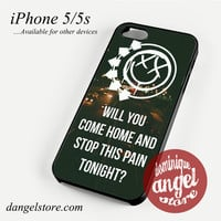 Blink 182 Lyrics 3 Phone case for iPhone 4/4s/5/5c/5s/6/6 plus