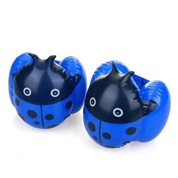1 Pair Child Swimming Arm Ring Inflation Floating Sleeve Kids Baby Float Ladybugs Inflatable Learn Swim Bathing Pool Water Toy