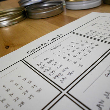 PDF Black and White Calendar Labels by paperfromheaven on Etsy