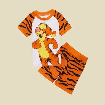 Kids Clothes Children Clothing Set Toddler Kids Pajamas Sets Tigger Nightwear Printing Pajamas Baby Girl Boy Sleepers Clothes 2T