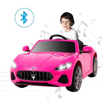 Maserati Grancabrio 12V Electric Kids Ride On Cars Motorized Vehicles for Girls W/Remote Control, Wheels Suspension, Mp3