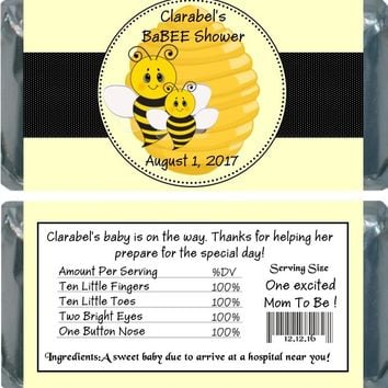 10 Bee Baby Shower Chocolate Bar Wrappers