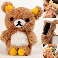 3D Cute Teddy Bear Cool Plush Toy Doll Cover Case For iPhone 3G 4G 4S 5G th IPod