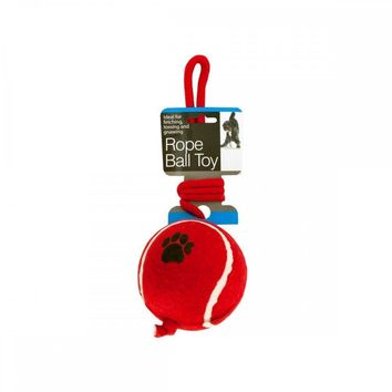 Jumbo Tennis Ball With Rope Dog Toy OF658