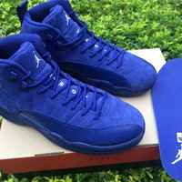 "Air Jordan 12 Retro AJ12 ""Deep Royal Blue"""