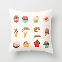 Desserts Throw Pillow by Michelle Dadoun