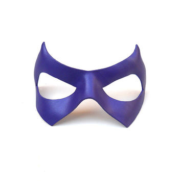 The Riddler Leather Mask Batman Violet Purple Villain children adults Half Halloween Costume Masquerade Carnival Party Comic Con Cosplay