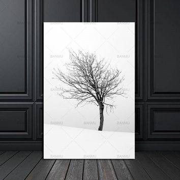 nordic poster Canvas Painting home decor art  Prints Tall Trees Forest  Natural Wall Pictures Living Room Art Decoration Picture