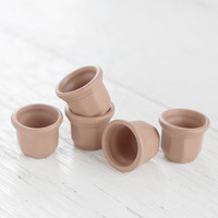 Miniature Terra Cotta Pots - Tiny Fairy Garden Clay Flower Pots, 5 Pcs.