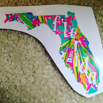 Lilly Pulitzer Vinyl State Decal