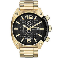 Diesel Men's Overflow Chronograph Gold Tone Stainless Steel Watch with
