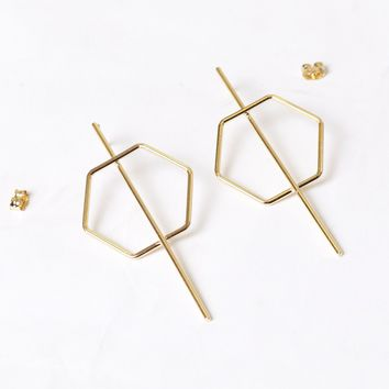 Bow N' Arrow Earring Gold