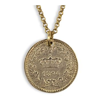 Electric Picks Fortune Vintage Coin Necklace