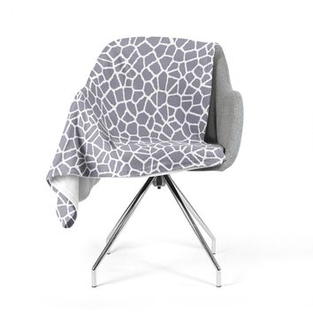 "Trebam ""Staklo II"" Gray White Fleece Throw Blanket"