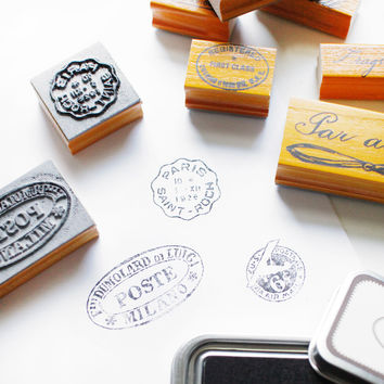 par avion rubber stamps