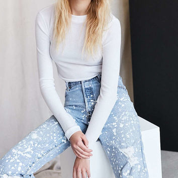 Vintage Levis Paint Splattered Jean - White - Urban Outfitters