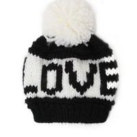 With Love From CA Love Beanie - Womens Hat - Black - One