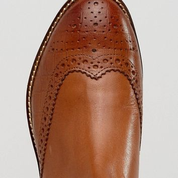 Dune London Wide Fit Quentons Leather Chelsea Flat Ankle Boots at asos.com