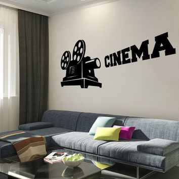 Wall Vinyl Decal Cinema Movie Camera Hollywood Decor Unique Gift z3759