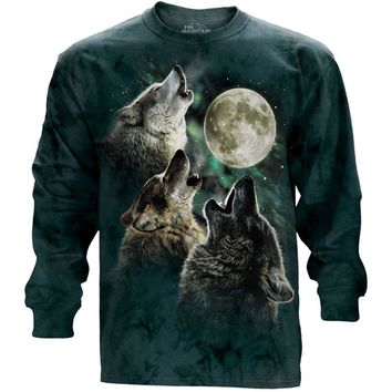 The Mountain Men's  Three Wolf Moon T-shirt