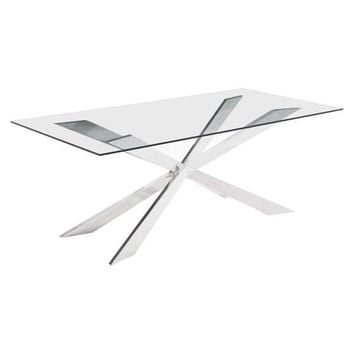 Rize Dining Table Stainless Steel