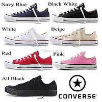 2017 Converse Chuck Tay Lor Shoes For Men Women Brand Converses Sneakers Casual Low Top Classic Black White Red Skateboard Canvas