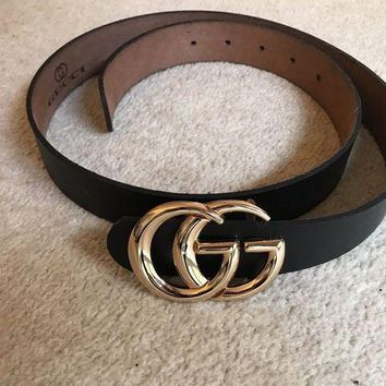 PEAPWA2 womens black gucci belt