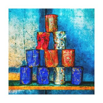 Soup Cans - Square Meal Canvas Print