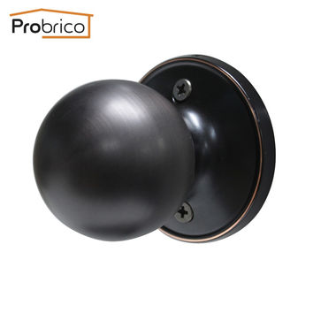Probrico Antique Stainless Steel Half-Dummy Door Knob For Interior Door Vintage Round Oil Rubbed Bronze Door Handle Dl607Orbdm