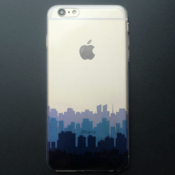 Buildings Transparent iPhone 6 plus case painted iPhone soft case - TS6P003