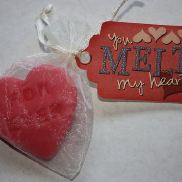 Heart Candle Melts - Candle Tarts - Love Spell