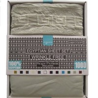 1000 Thread Count KING 4pc Egyptian Bed Sheet Set PISTACHIO GREEN (Pattern Only on Pillowcases)
