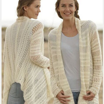 Sweater Hollow Out Cardigan Jacket [6372873732]