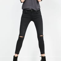 SKINNY TROUSERS MID-RISE