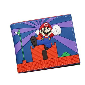 Super Mario party nes switch New Hot  Cute Dragon Ball Harry Potter Comic Wallets Leather Slim 3D Women Short Purse For Teenagers  Gift Men Wallet AT_80_8