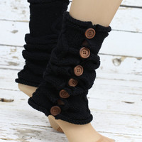 Leg Warmers-Button Leg warmers with Knit Lace trim -Legwarmers-boot socks -women legwarmers-button legwarmers -boot warmers,lace socks,socks