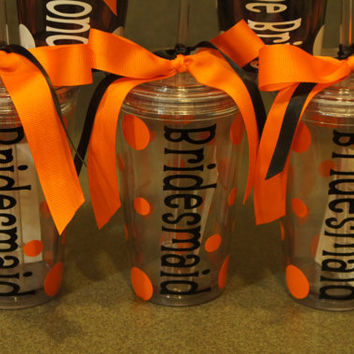 Personalized Tumblers: 16 oz Acrylic Insulated Double Walled Tumbler Cup With Lid and Matching Straw