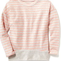 Old Navy French Terry Cocoon Top For Girls