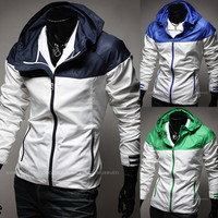 New Sport Trendy Men Windbreaker Jacket with Hood