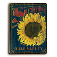 Personalized Sunflower Seeds Wood Sign