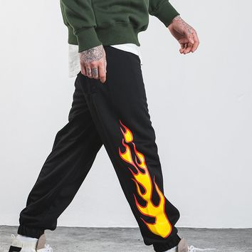Men Flame Sweatpant