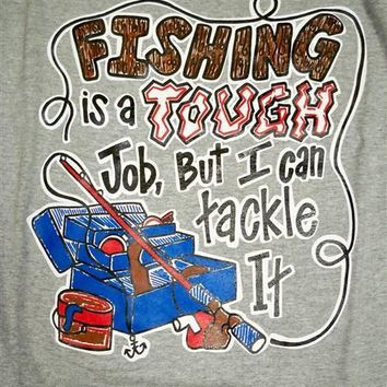 SALE Southern Chaps Funny Tackle Fishing Fish Hunt Country Bright T Shirt