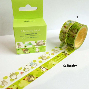 My Neighbour Totoro Japanese Washi Tape Set - Masking Decorative Planner Tape Adhesive