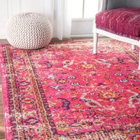 nuLOOM Distressed Floral Anabel Area Rug