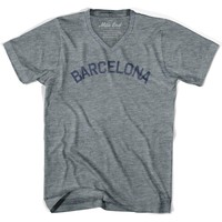 Barcelona City Vintage V-neck T-shirt