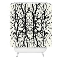 Holli Zollinger Tree Silhouette Black Shower Curtain