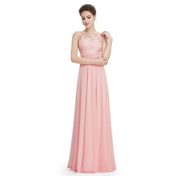Pink Long Padded Day Dress