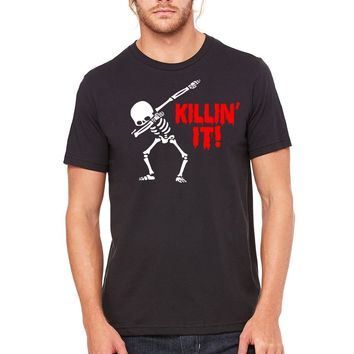 Killing it Dabbing Skeleton Halloween Unisex T-shirt