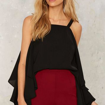 No One is Innocent Ruffle Top - Black
